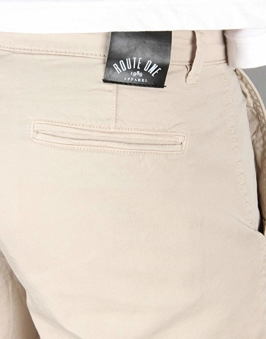 Route One Chino Shorts - Stone