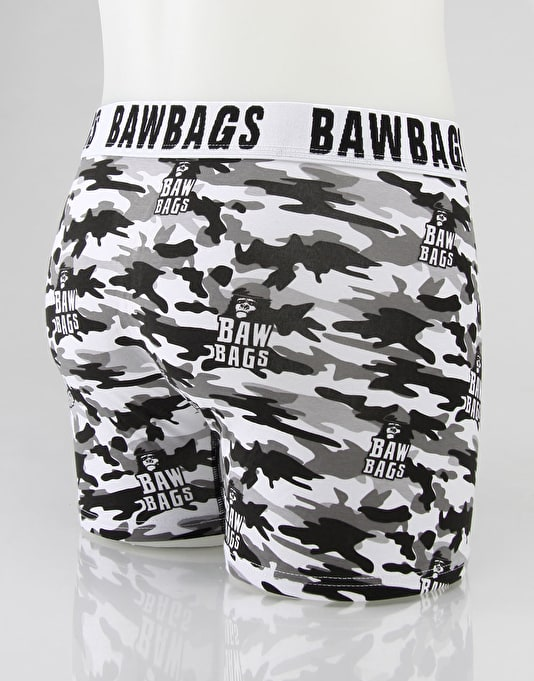 Bawbags Snow Camo Boxer Shorts