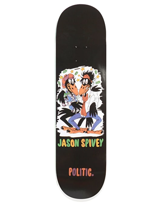 Politic Spivey Crowes Skateboard Deck - 8.38""
