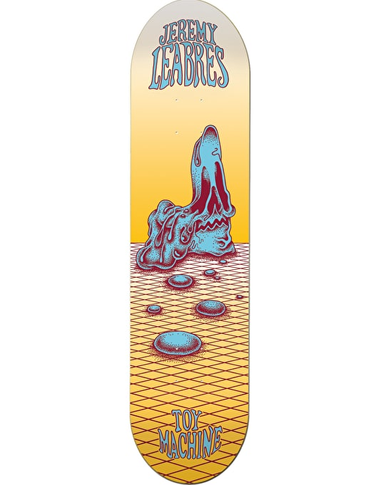 Toy Machine Leabres Face Melt Pro Deck - 8.25""