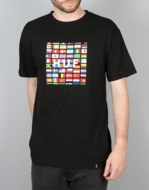 HUF Flag Box Logo T-Shirt - Black