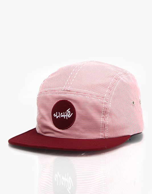 e2d14dc8933 Cliché Wallace 5 Panel Cap - Red