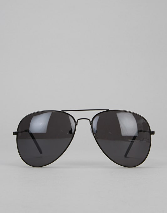 Route One Aviator Sunglasses - Black