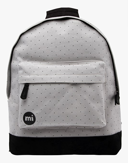 Mi-Pac Canvas Dot Backpack - Grey/Black