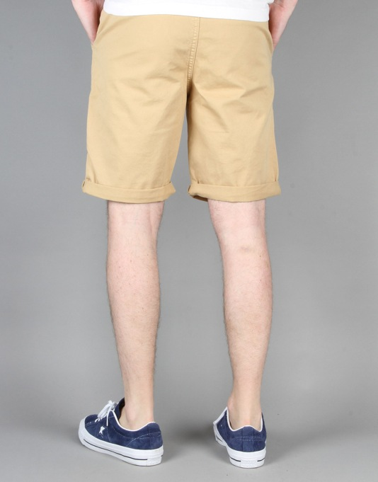 Route One Roll Up Chino Shorts - Khaki