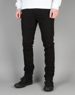 Route One Skinny Denim Jeans - Flat Black