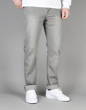 Route One Slim Denim Jeans - Washed Grey