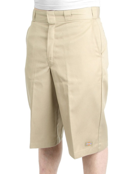 "Dickies 13"" Flat Fronted Work Shorts - Khaki"