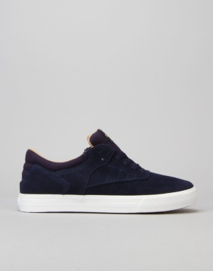 Supra Phoenix Skate Shoes - Navy/White