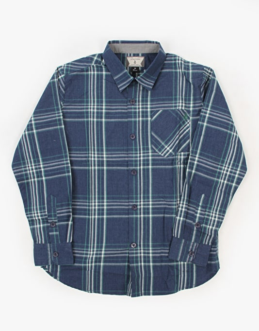 Volcom Why Factor Plaid LS Boys Shirt