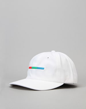 5boro VHS Colour Bar 6 Panel Cap - White
