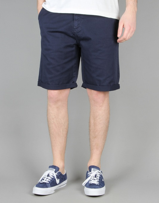 Route One Roll Up Chino Shorts - Navy