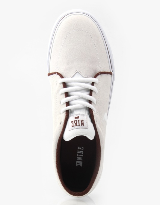Nike SB Satire Skate Shoes - White/Brown