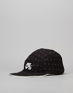Nike SB Reversible 5 Panel Cap - White/Black