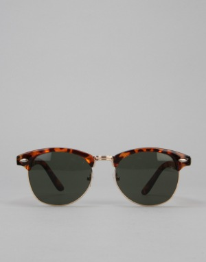 Route One Clubmaster Sunglasses - Tortoise