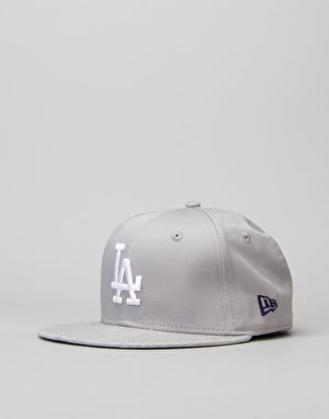 New Era 9Fifty MLB LA Dodgers Team Snapback Cap - Grey/Blue