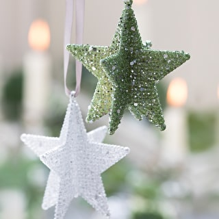 Glitter Star Decorations