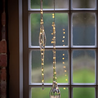 Glass Drop Decoration with LEDs