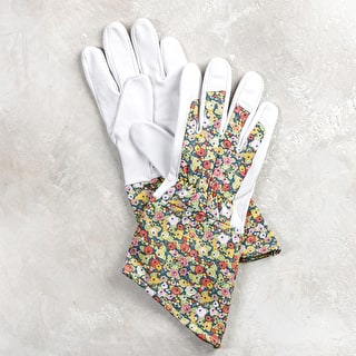 Floral Gloves with Leather Palm