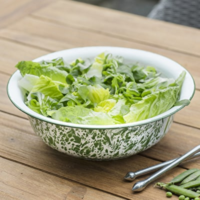 Mottled Enamel Salad Bowl