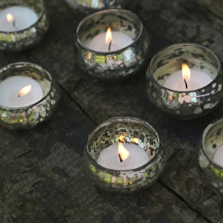 Silvered Floating Tealight Holders