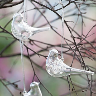 Etched Glass Birds