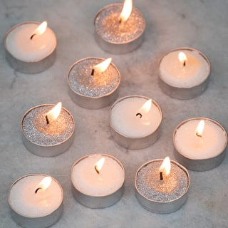 Glittered Wax Tealights