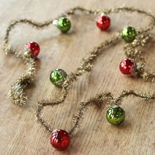Vintage Tinsel Bauble Garland