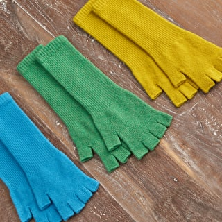 Lambswool Long Fingerless Gloves