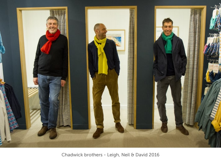 The Chadwick brothers - Leigh, Neil and David - 2016
