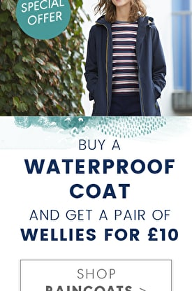 Buy a waterproof coat and get a pair of wellies for £10. Shop Raincoats >