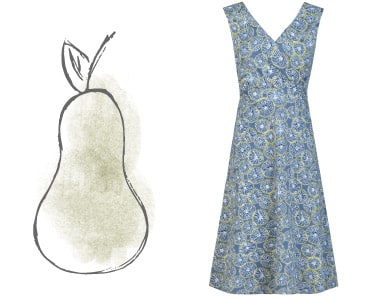 Pear dresses - Sleevless, printed cotton, summer dress