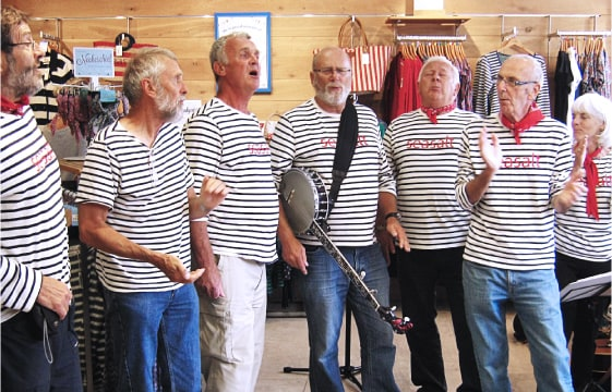 The Tavy Tars sea shanty group
