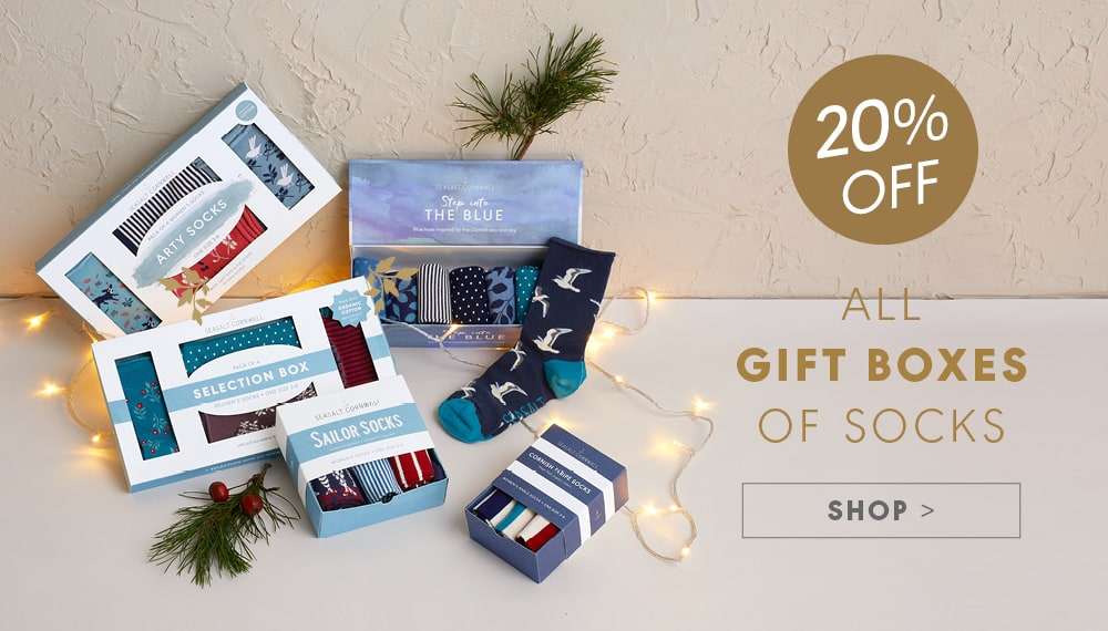 20% Off all gift boxes of socks