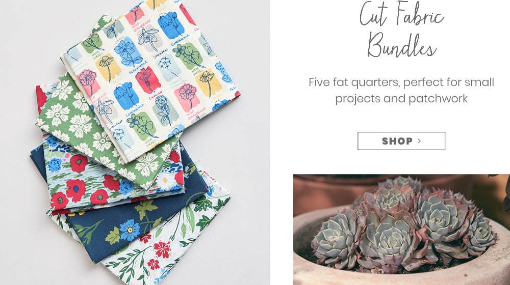 Cut fabric bundles, 5 fat quarters, perfect for small projects and patchwork