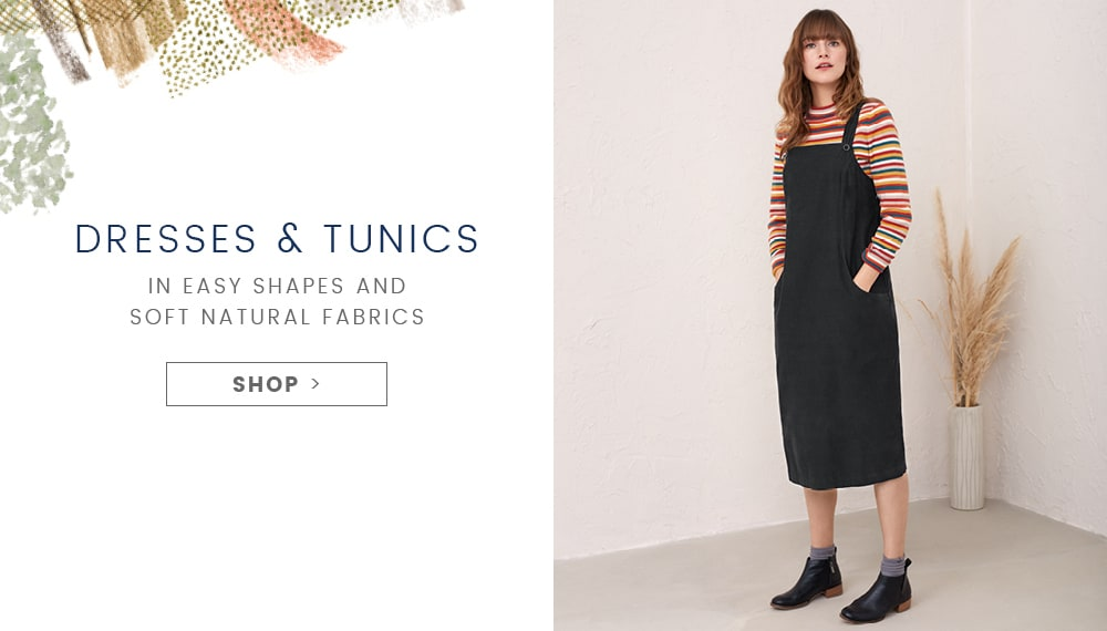 Shop Dresses & Tunics. In easy shapes and new Seasalt prints.