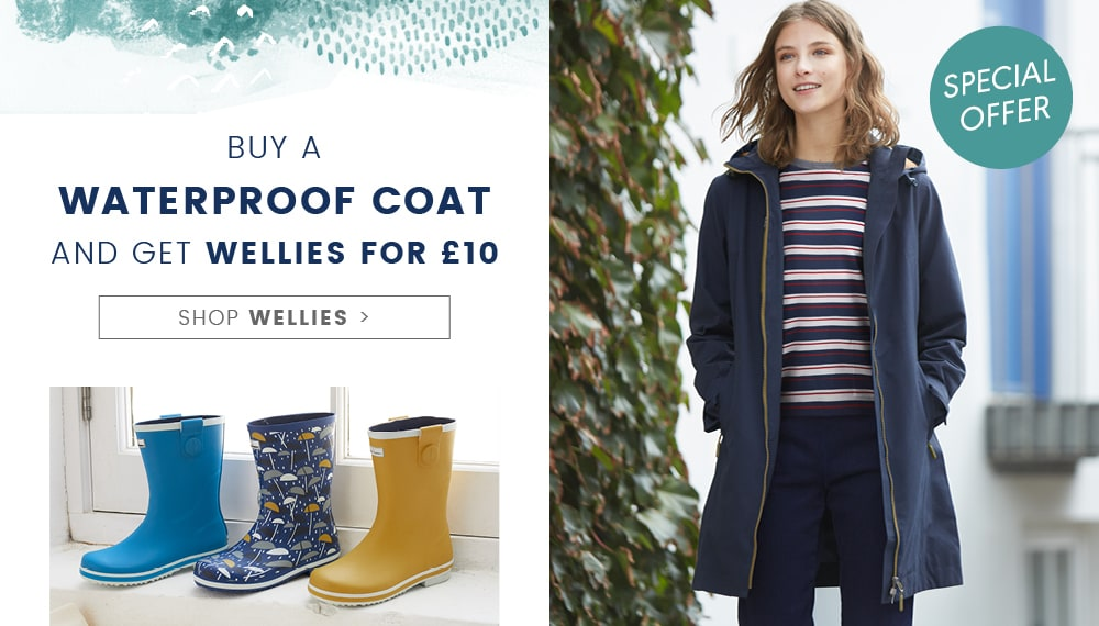 New Wellies for £10, When you buy a raincoat