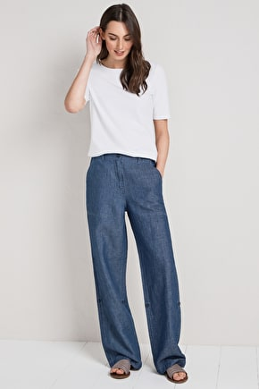 Paddle Jeans, Lightweight Cotton and Linen Denim Twill Jeans - Seasalt