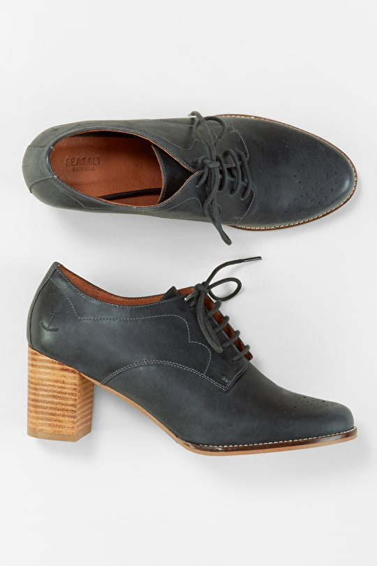 Classic Leather Brogues With A Flattering Heel - Seasalt