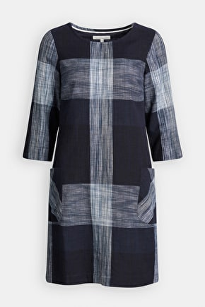 3/4 Sleeved Rocambole Dress - Cotton Shift Dress - Seasalt Cornwall