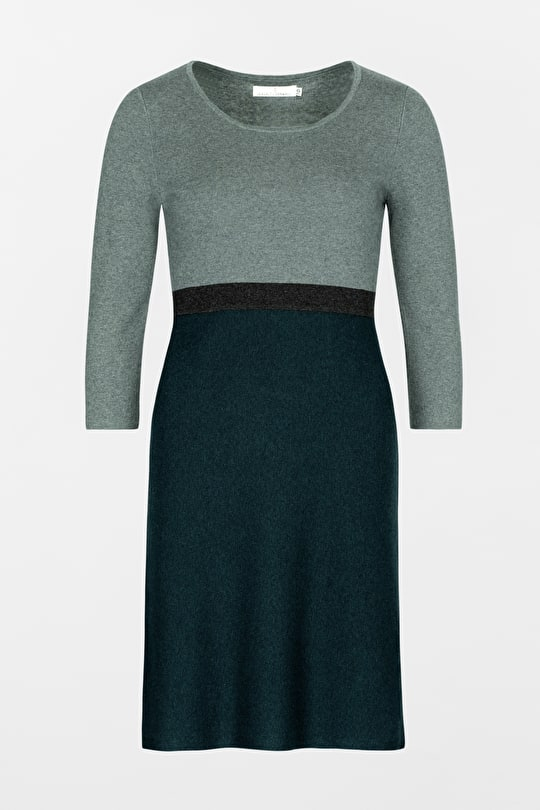 Jersey Knit, Knee Length Dress. With Sleeves - Seasalt