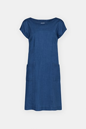 Tallara Dress, Semi-fitted Cotton Chambray Dress- Seasalt Cornwall