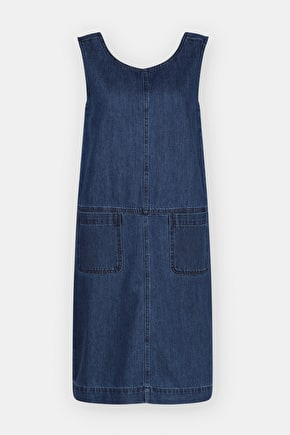 Art Book Pinafore, Denim A-line Dress - Seasalt