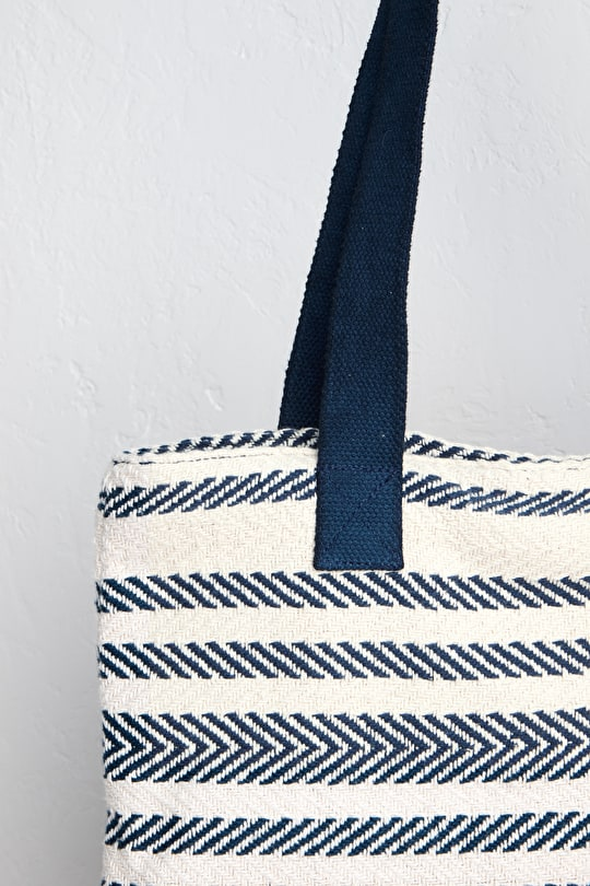 Peaceful Beach Large Cotton Bag - Seasalt
