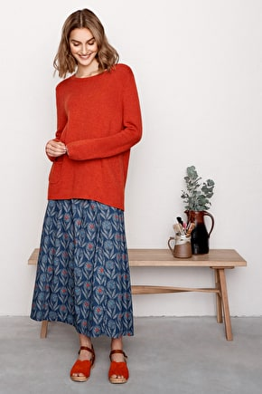 Lino Cut Jumper,  Wool Viscose Alpaca Knit  - Seasalt