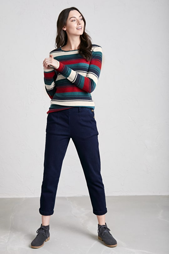 Brill Jumper, Nautically Inspired Light Cotton Knit