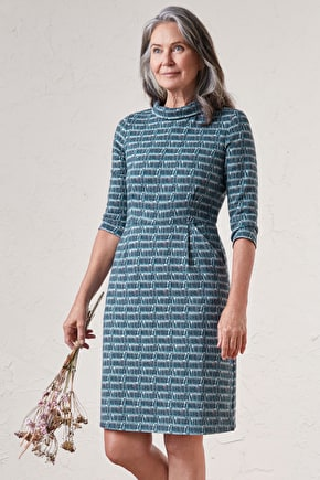 Cleats Dress, Cotton Jersey Knee Length Dress - Seasalt Cornwall