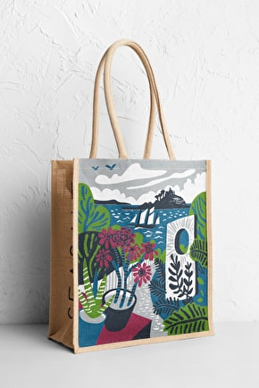 Jute Shopper | Unique printed jute bag | Seasalt