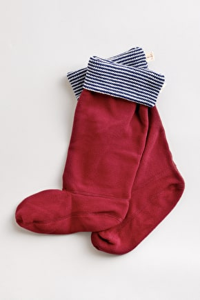 Knitted Striped Wellington Boot Socks - Seasalt