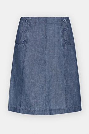 Birdsfood Skirt, Knee Length A-line Cotton Skirt - Seasalt